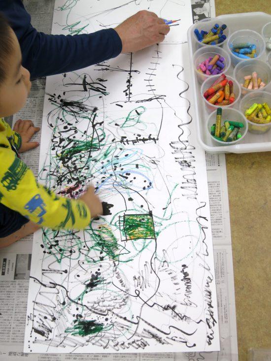 幼児 年少親子 絵画/一緒に 描く 描く
