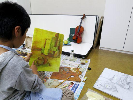 中高生 油絵/若葉の挑戦