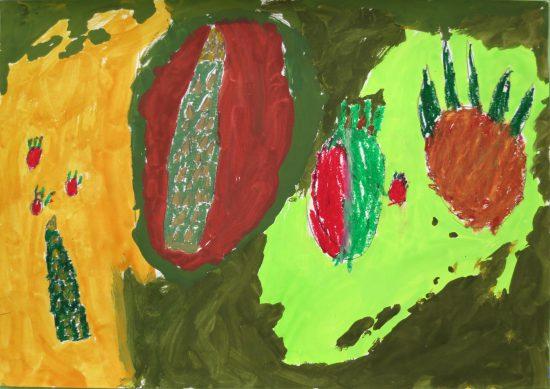幼児 絵画/色づくりのストーリー