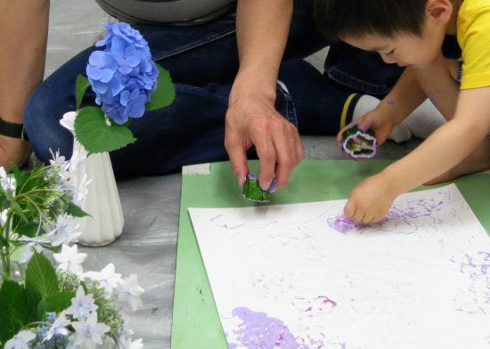 幼児 年少親子/紫の季節