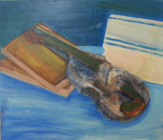 高校生油絵とデッサン/音楽のある風景