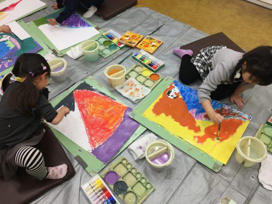 幼児 絵画/富士のように堂々と・・