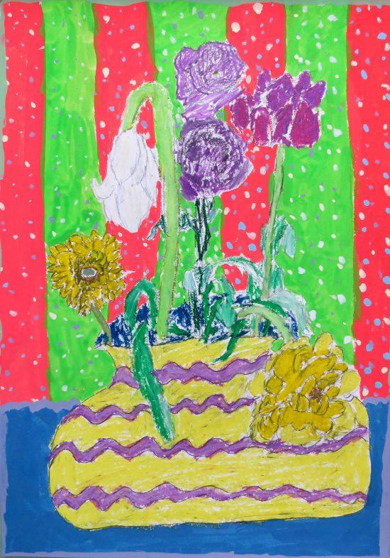 小学生 絵画/花の続き