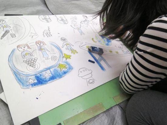 小学生 絵画/始まりは笑顔で
