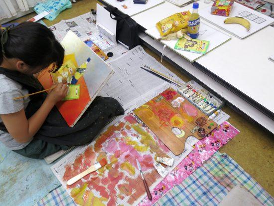 小学生高学年 油絵 絵画/広がりと重なり