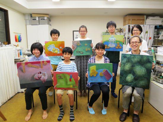 中高生 油絵/春の制作合評会『美しさをつくる』