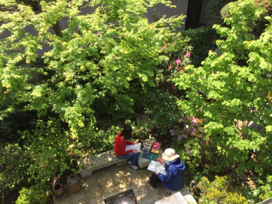 「朝の庭の写生会」やります!