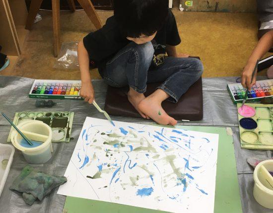 小学生 絵画/絵の具の実験室