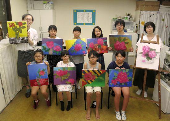 小学生高学年 絵画 油絵/春の合評会