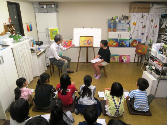 高学年 油絵 絵画/春の制作合評会『ふたつの言葉』