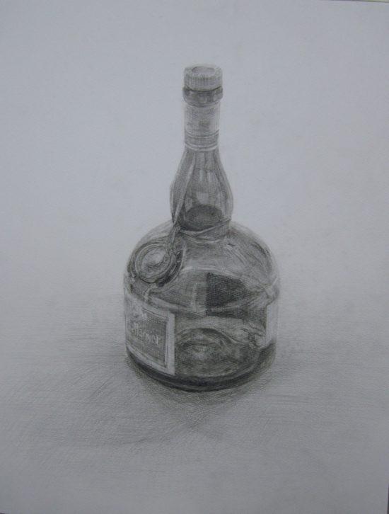 おとな・鉛筆デッサン/瓶の物語
