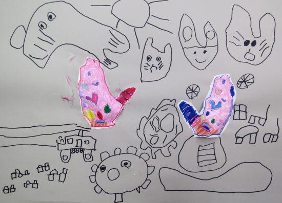 幼児 絵画/自分いろ満開
