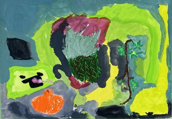 幼児 絵画/描く描く、描く